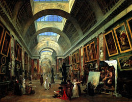 Большая галерея Лувра (Р. Юбер)