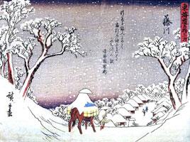 Всадник на снегу (Утагава Хиросигэ)