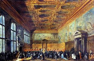 Аудиенция дожа в Зале Совета во Дворце дожей (Г. Франческо)